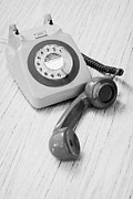 Analog Prints - Old Retro Gpo 746 British Telecom Rotary Dial Phone Print by Joe Fox