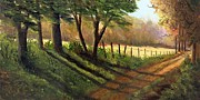 Dirt Road Paintings - Old Road to Ridgeway by Rita Smith