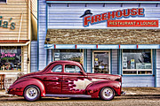 Hotrod Posters - Old Roadster - Red Poster by Carol Leigh