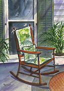 Porch Painting Originals - Old Rocker by Marsha Elliott