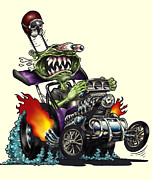 Old Rod Print by Jon Towle
