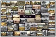Stadium Design Photo Posters - Old Rome Collage Poster by Janos Kovac
