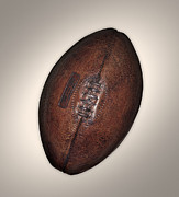 Rugby Photos - Old Rugby Ball by John Rensten