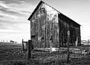 Kathleen K Parker - Old Rural Barn in West Virginia in black and white
