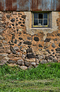 Field Stone Framed Prints - Old Rural Barn Window Framed Print by Jill Battaglia
