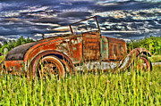 Rusted Cars Framed Prints - Old Rusted Car HDR Framed Print by Randy Harris