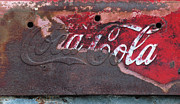 Calligraphy Digital Art Prints - Old rusty Coca Cola Sign Print by Anahi DeCanio