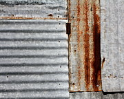 Metal Sheet Posters - Old Rusty Sheet Metal Poster by Terry Fleckney