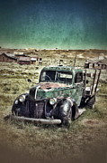 Old Cabins Framed Prints - Old Rusty Truck Framed Print by Jill Battaglia