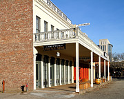 Boardwalks Photo Posters - Old Sacramento California . Central Pacific Railroad Office Building . 7D11699 Poster by Wingsdomain Art and Photography