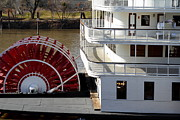 Western Architecture Prints - Old Sacramento California . Delta King Hotel . Paddle Wheel Steam Boat . 7D11526 Print by Wingsdomain Art and Photography