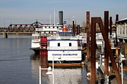 Sacramento Prints - Old Sacramento California . Empress Hornblower . Delta King Hotel . Paddle Wheel Steam Boat . 7D1153 Print by Wingsdomain Art and Photography