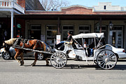 Boardwalks Photo Posters - Old Sacramento California . Horse Drawn Buggy . 7D11482 Poster by Wingsdomain Art and Photography