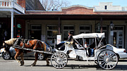Western Architecture Prints - Old Sacramento California . Horse Drawn Buggy . Long Cut . 7D11482 Print by Wingsdomain Art and Photography