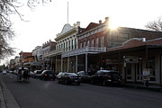 Western Architecture Prints - Old Sacramento California In Partial Silhouette . 7D11716 Print by Wingsdomain Art and Photography
