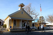 Old School Houses Photo Metal Prints - Old Sacramento California . Schoolhouse Museum . 7D11578 Metal Print by Wingsdomain Art and Photography
