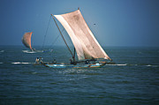 Dumindu Shanaka Posters - Old Sail boat Poster by Dumindu Shanaka