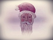 Red Cheeks Posters - Old Saint Nicholas Poster by David Dehner