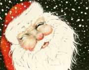 Old Saint Nick Print by Paula Weber