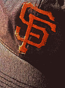 Baseball Photographs Posters - Old San Francisco Giants Cap 2 Poster by Bill Owen