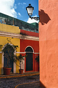 Puerto Rico Art - Old San Juan Street Corner by George Oze