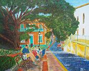 San Juan Paintings - Old San Juan Street Scene by Tony Rodriguez