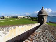 Puerto Rico Framed Prints - Old San Juan View from El Morro Fort Framed Print by George Oze