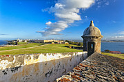 Old San Juan Vista Print by George Oze