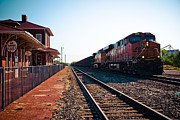 Depot Photos - Old Santa Fe Depot by David Waldo