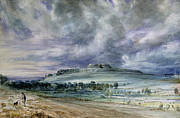 Old Trees Prints - Old Sarum Print by John Constable