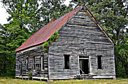 Old Barns Posters - Old School Alabama Poster by Amanda Vouglas