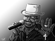Rhythm And Blues Drawings - Old School Brother by Tuan HollaBack