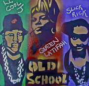 First Amendment Paintings - Old School Hip Hop by Tony B Conscious