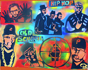 First Amendment Paintings - Old School Hip Hoppas by Tony B Conscious