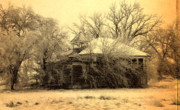 Rural Decay  Digital Art - Old School House by Julie Hamilton