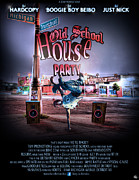 Red School House Digital Art Prints - Old School House Party 2012 Print by Nicholas  Grunas