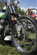 Harley Davidson Photos - Old School by Peter Chilelli