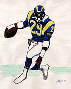 Football Hall Of Fame Mixed Media - Old School Running Back by Lee McCormick