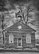 Abandoned School House Framed Prints - Old School Framed Print by Scott Norris