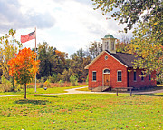 Schoolhouse Prints - Old Schoolhouse-Wildwood Park Print by Jack Schultz