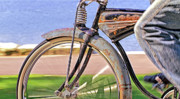 Spokes Framed Prints - Old Schwinn Framed Print by David  Naman