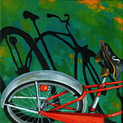 Linda Apple Photo Metal Prints - Old Schwinn Metal Print by Linda Apple