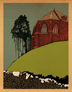 Church Of Scotland Posters - Old Scottish Church Poster by Pat Butler