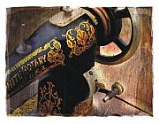 Sewing Room Posters - Old Sewing Machine Poster by Bob Salo