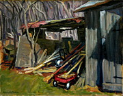 Abstract Realist Landscape Art - Old Shed Berkshires by Thor Wickstrom