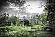Shed Digital Art Posters - Old Shed Poster by Lori Frostad