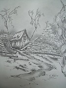 Old Shed Print by Tom Rechsteiner