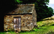 Peak District Posters - Old Sheep Den Poster by Abbie Shores