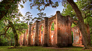 Church Ruins Photos - Old Sheldon Church by Drew Castelhano