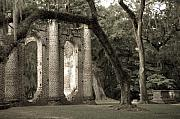 Ruins Photos - Old Sheldon Church by Scott Hansen